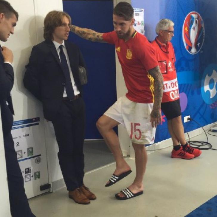 Modric le-a spus croaţilor cum va bate Ramos penalty-ul. Cum au fost surprinşi cei doi la final
