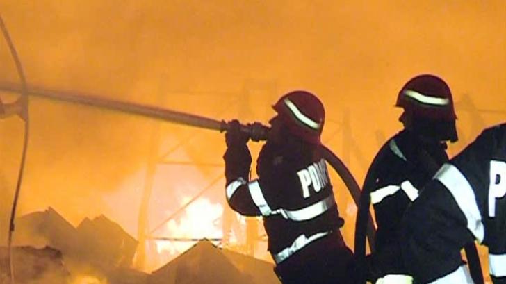 Incendiu violent în Chitila. O fabrică de pâine a luat foc  |Incendiu Chitila