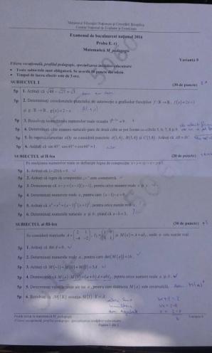 Subiecte BAC M4 - pedagogic.