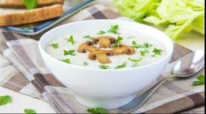 Aşa faci cea mai bună supă cremă de ciuperci. Este gata în 30 de minute
