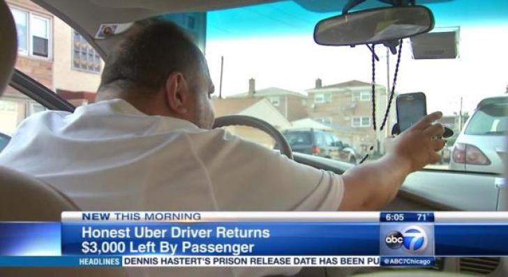 Un imigrant în SUA şi-a uitat portofelul în maşina unui şofer Uber. SURPRIZĂ! Ce avea înăuntru