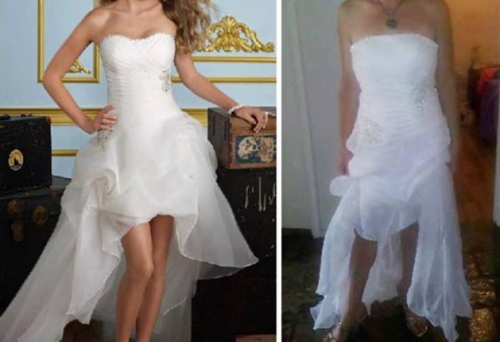 Aşa arăta rochia de mireasă pe care a comandat-o. Ce a ajuns în pachet în ziua nunţii a stricat TOT
