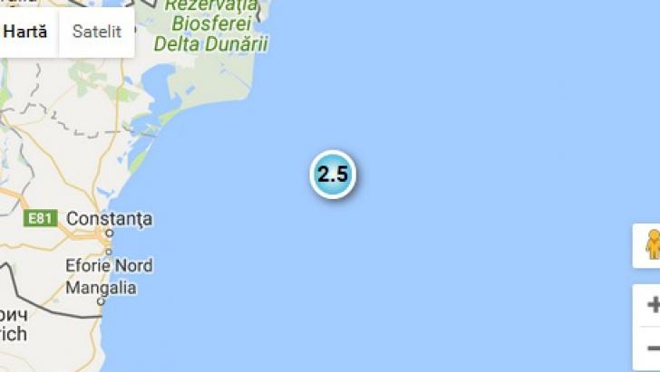 Cutremur în Marea Neagră, foarte aproape de Constanţa, sâmbătă dimineaţă