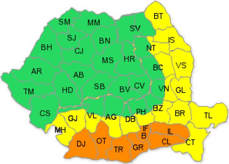 România se topeşte! Sudul şi sud-estul ţării, sub COD GALBEN de caniculă. De luni, COD PORTOCALIU