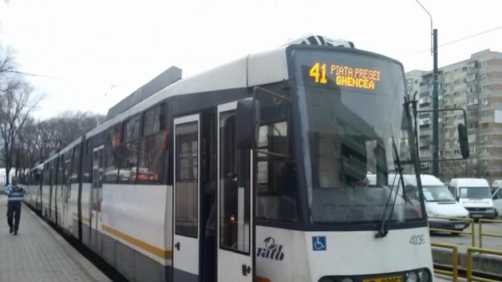Circulatia blocata pe linia tramvaiului 41