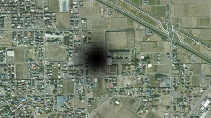 Imagine ciudată surprinsă pe hartă. Ce a apărut lângă un mare oraș