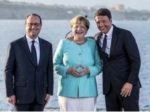 Merkel, Hollande și Renzi