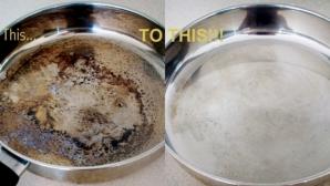 Cel mai simplu mod în care poţi curăţa oalele arse. Vor arăta ca atunci când le-ai cumpărat