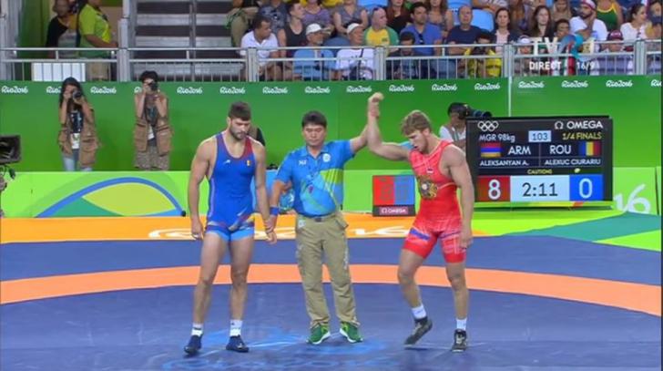 JO 2016: Lupte. Alin Alexuc Ciurariu, învins în sferturile de finală ale categoriei 98 kg