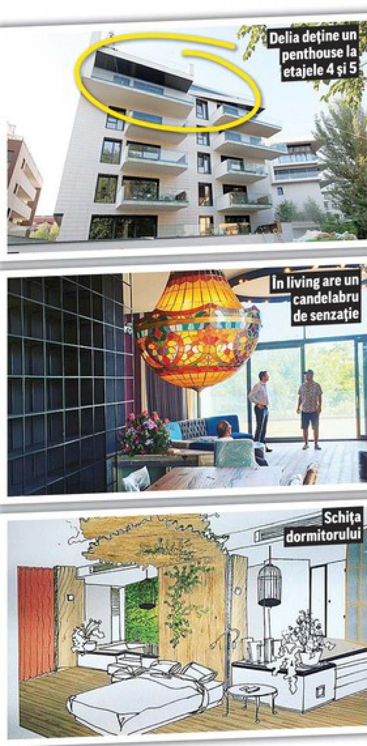 Cum arată apartamentul Deliei în valoare de aproape 1,5 milioane de euro