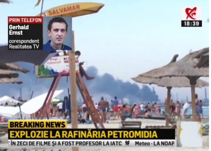 Incendiul de la rafinăria Petromidia: unul dintre răniţi a murit. Care e starea celorlalte victime