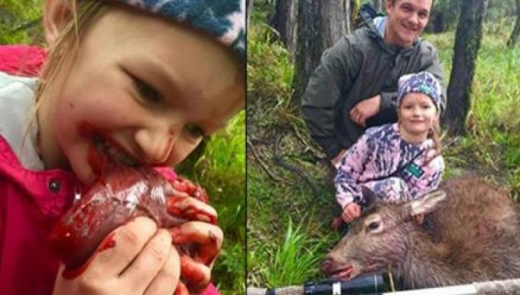 La 8 ani, MUŞCĂ din inima căprioarei ucise de mâna ei. Ce a făcut tatăl, însă, este ÎNFIORĂTOR!