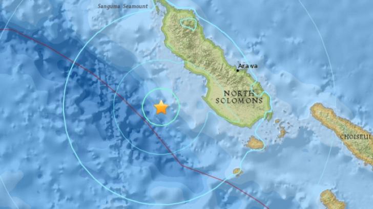 Cutremur de 6,7 în vestul Oceanului Pacific