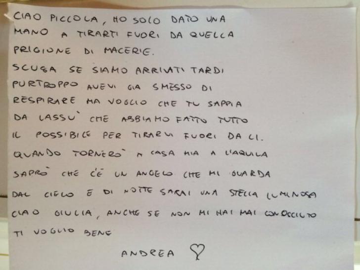 Înspăimântător! Scrisoarea unui pompier italian către o fetiţă pe care nu a putut să o salveze