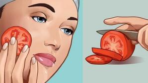 Ce se întâmplă dacă îţi freci o roşie pe faţă timp de 3 secunde