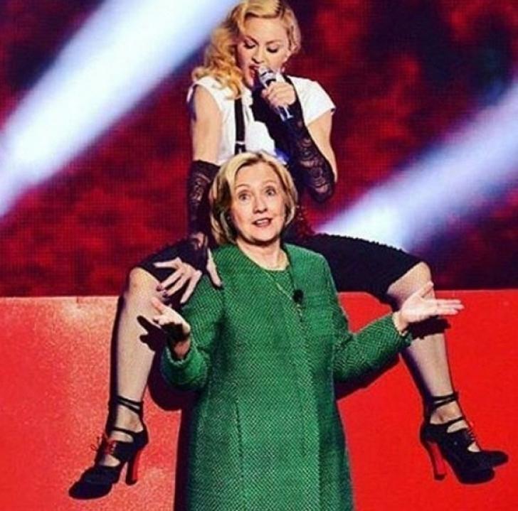 Madonna a pozat goală ca să îşi îndemne fanii să voteze cu Hillary Clinton