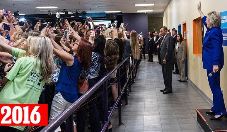Imaginea zilei - cum a fost surprinsă Hillary Clinton