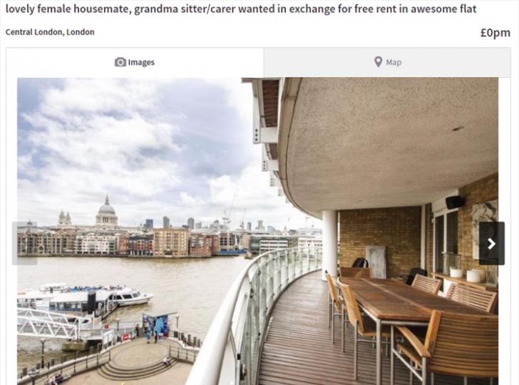 Poţi să locuieşti gratis în acest apartament din Londra. Există o singură condiţie