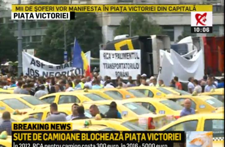Protest transportatori. Tarifele RCA, plafonate la 7.500 de lei