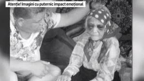 Imagini şocante: Bătrână de 90 ani, bătută crunt de fiica sa. Poliţia a dechis o anchetă