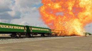 Imagine DEMO cu o explozie de tren
