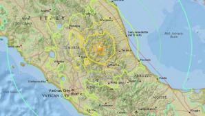 Cutremur puternic în Italia, în urmă cu puţin timp. Seismul s-a simţit şi în Roma