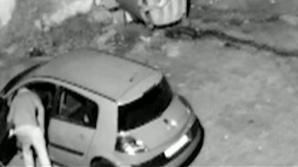 Maşină vandalizată