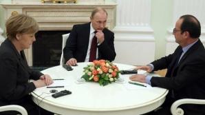 Merkel şi Hollande au vorbit, 50 de minute, la telefon cu Putin. La ce concluzie au ajuns?