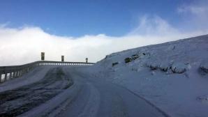 VIDEO. Transalpina, blocată din cauza zăpezii. Cât de mult a nins?