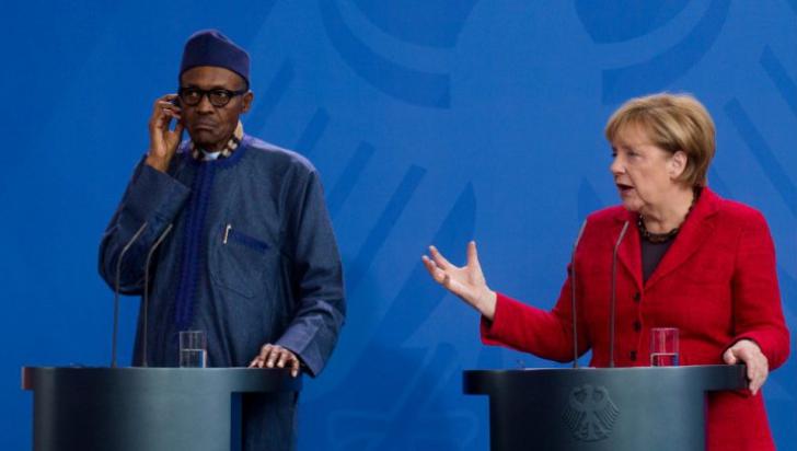 """Președintele Nigeriei a lăsat-o fără replică pe Angela Merkel: """"Locul nevestei mele e la..."""""""