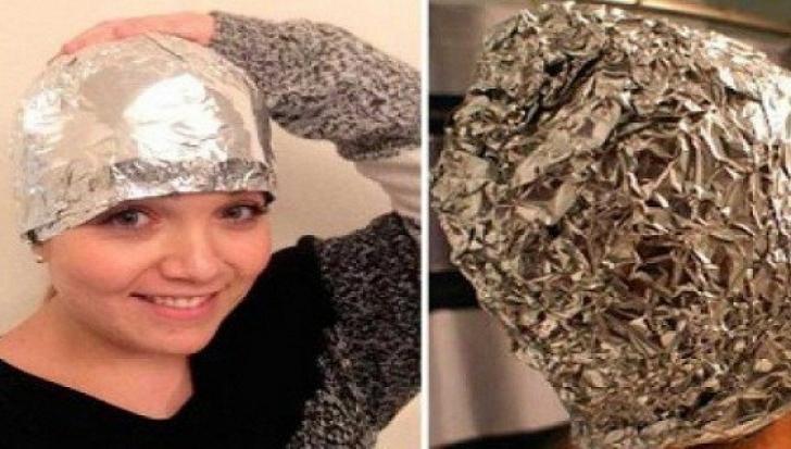 Și-a învelit capul în folie de aluminiu. A doua zi a văzut efectul miraculos