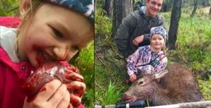 La 8 ani, MUŞCĂ din inima căprioarei ucise de mâna ei. Ce face tatăl, însă, este ÎNFIORĂTOR!