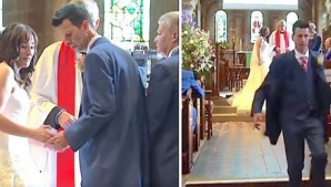 Mirii erau în faţa altarului. Brusc, ceva ireal se întâmplă şi bărbatul fuge mâncând pământul. ŞOC!