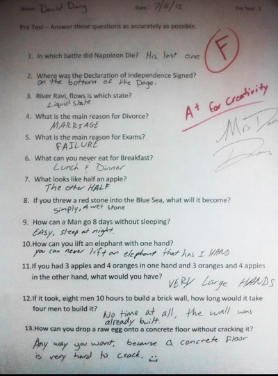 Top 10 modalități geniale de a răspunde la examene atunci când nu ai învățat deloc