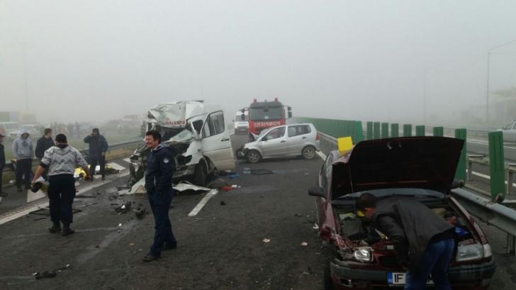 11 șoferi implicați în accidentul de pe A2 din 5 noiembrie au fost  trimişi în judecată