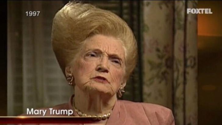 Părul mamei lui Donald Trump face senzație pe Internet. Iată ce coafură avea Mary Trump!