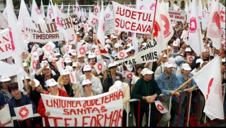 Sanitas pichetează marţi sediul Ministerului Sănătăţii