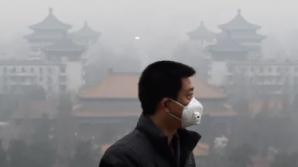 Cod portocaliu de POLUARE la Beijing. Populaţia, sfătuită să NU iasă din case!