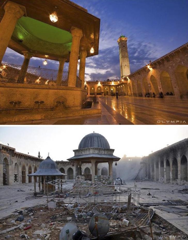 Alep, înainte și după începutul războiului! Cum s-a transformat cel mai mare oraș din Siria