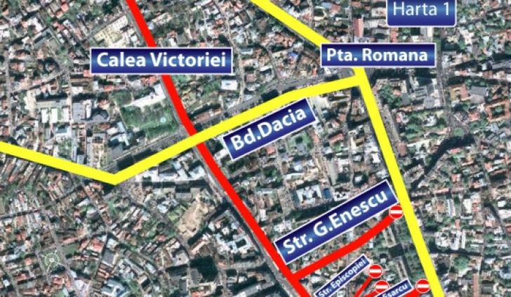 Restricţii de trafic în Capitală, în perioada 30 decembrie- 1 ianuarie