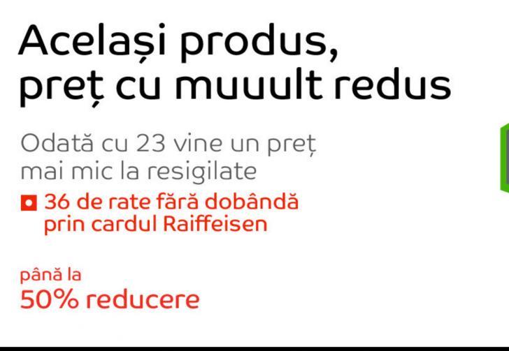eMAG – 50% reducere la resigilate. Puteti cumpara in 36 de rate fara dobanda