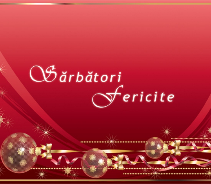 FELICITĂRI DE CRĂCIUN. Trimite-le celor dragi o felicitare de Crăciun: Sărbători Fericite!
