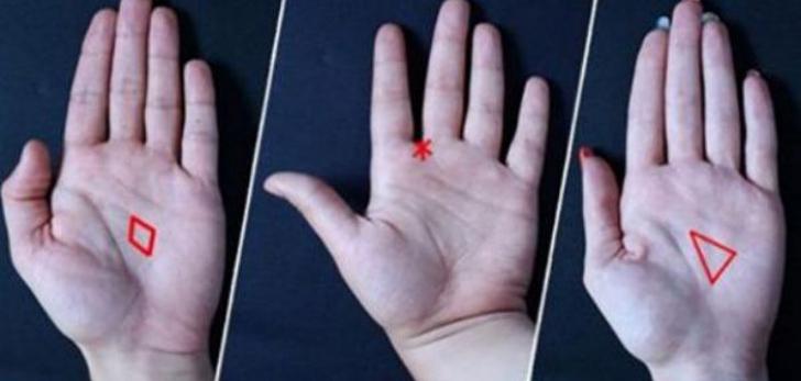 Foarte tare! Uită-te în palmă şi află ce înseamnă dacă ai un triunghi, o stea sau un diamant!