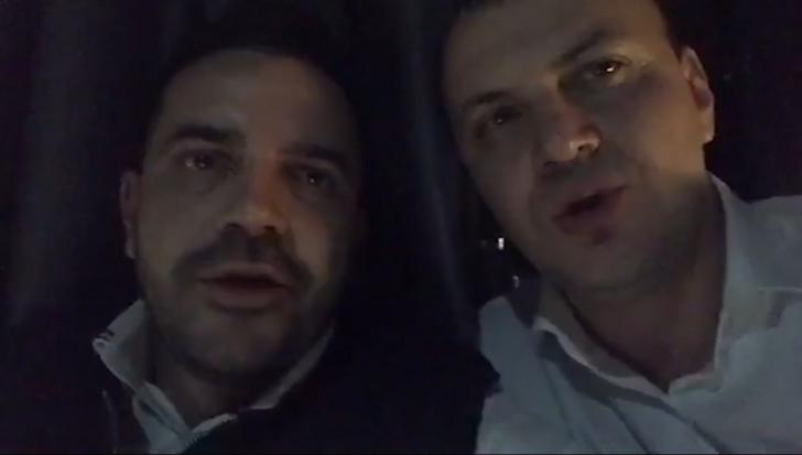 """Clipul halucinant al nopții electorale. Sebastian Ghiță și Bogdan Diaconu cântă """"Noi suntem români"""""""