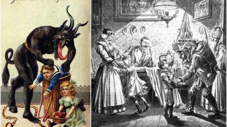 Krampus, creatura care fură copii de Moş Nicolae şi îi duce în ''Iad''