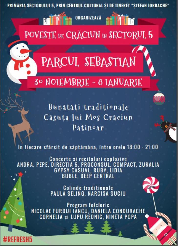 Parcul Sebastian a fost declarat cartierul general al lui Moș Crăciun în 2016 (P)