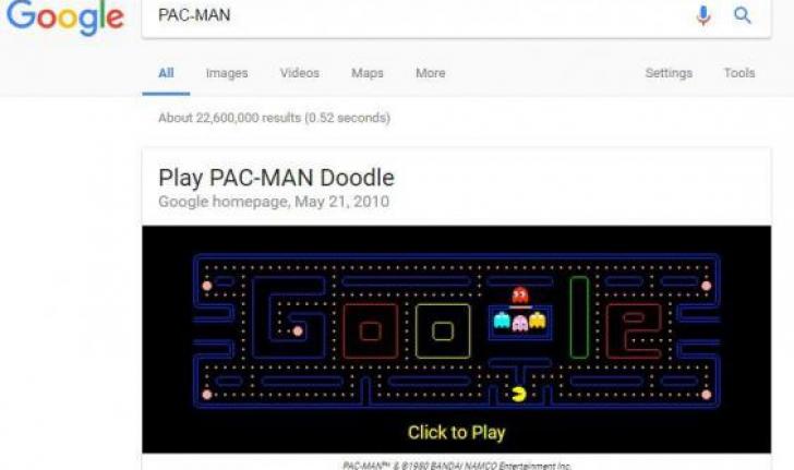 Jocuri ascunse pe Google, care îţi vor plăcea cu siguranţă