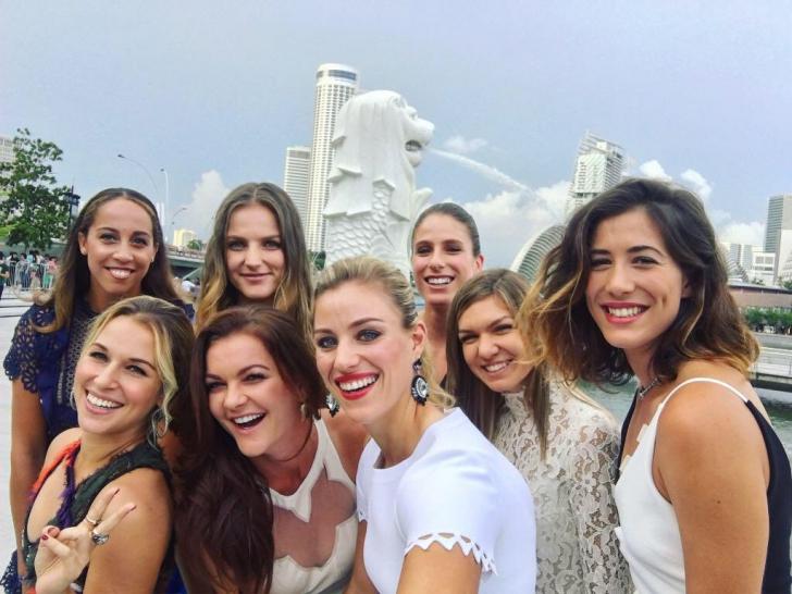 Simona Halep. Cum arată selfie-ul anului, în care apare sportiva noastră. WTA a dat verdictul