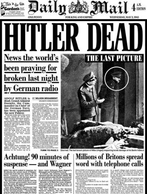 Anuntul mortii lui Hitler