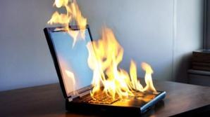 Laptop cu pericol de explozie